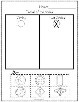 2D Shapes Unit for Preschool, Pre-K, and Kindergarten