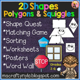 2D Shapes Worksheets - Games - Activities - Word Walls