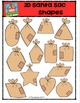 2D Santa Sac Shapes {P4 Clips Trioriginals Digital Clip Art}
