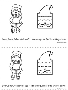 Santa Shapes A Predictable Reader and Posters (Bundled)