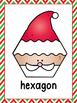 Santa Shapes A Predictable Reader and Posters (Bundled)