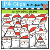 2D Santa Shapes {P4 Clips Trioriginals Digital Clip Art}G
