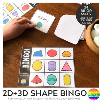 2D + 3D Shape BINGO Game