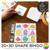 2D + 3D Shape BINGO Game