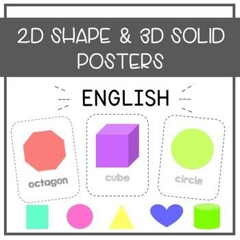 2D Shape & 3D Solid Posters