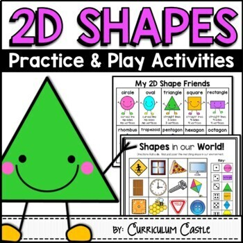 2D Shape Activities {Practice and Play}