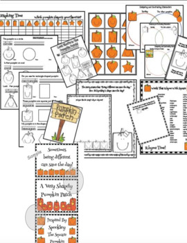 2D Shape Activities With Spookley The Square Pumpkin