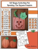 Spookley The Square Pumpkin 2D Shapes Craft & Halloween Pu