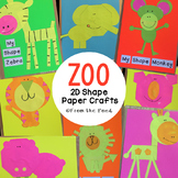 2D Shape Animal Crafts {Zoo}