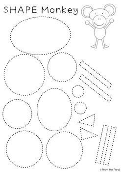 2D Shape Animal Crafts {Zoo}