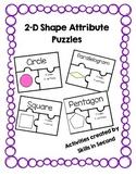 2D Shape Attribute Puzzles