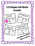 2D Shape Attribute Puzzles