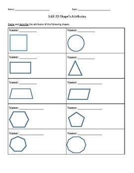 2D Shape Attributes