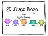 2D Shape Bingo including quadrilaterals
