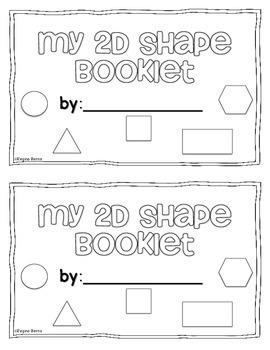 2d shape booklet cut paste by regina berns teachers pay teachers. Black Bedroom Furniture Sets. Home Design Ideas