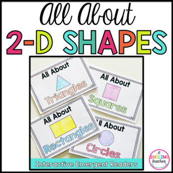 2D Shape Books Emergent Readers (Interactive)