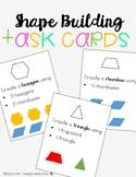 2D Shape Building Hands On Task Cards Center