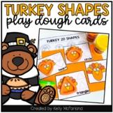 2D Shape Cards Thanksgiving Freebie