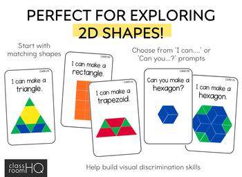 2D Shape Challenge Cards