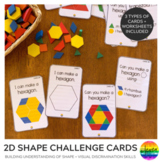 2D Shape Pattern Block STEM Challenge Cards