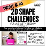 2D Shape Challenges | For Use with Seesaw