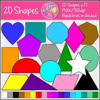 2D Shape Clip Art CU OK