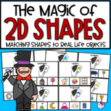 2D Shape Clip Cards and Real Objects
