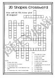 2D Shape Crossword