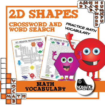 2D Shape Crossword and Word Search