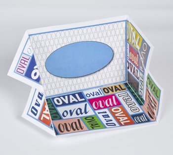 2D Shape Display Case: Oval