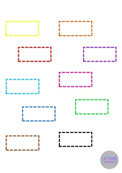 2D Shape Dotted Outlines Clip Art  For Math Cut & Paste Activities