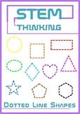 2D Shape Dotted Outlines Clip Art Illustrations Math