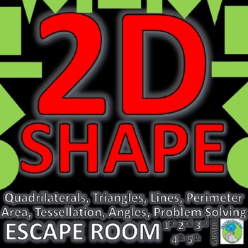 2D Shape ESCAPE ROOM: 10 Challenges, Answer Key, Print and ...