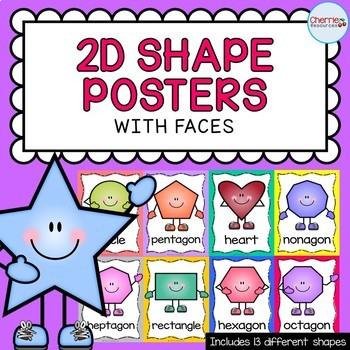 2D Shape (Faces) Posters