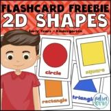 2D Shapes: Flashcard FREEBIE