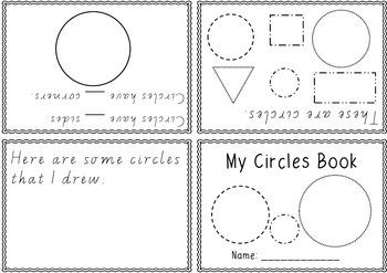2D Shapes Foldable Books - one book per shape / Victorian Modern Cursive