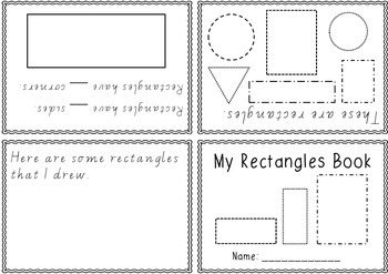 2D Shapes Foldable Books - one book per shape / Victorian Modern Cursive