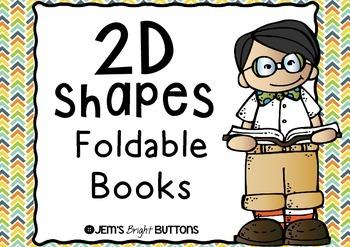 2D Shapes Foldable Books - one book per shape / Victorian