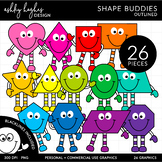 2D Shape Friends Clipart {A Hughes Design}