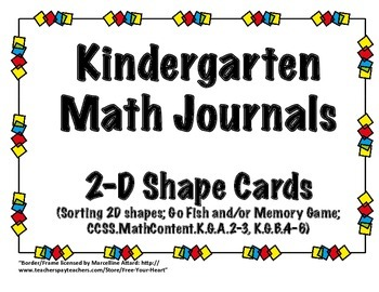 2D Shape Game Cards