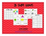 2D Shape Games for Kindergarten