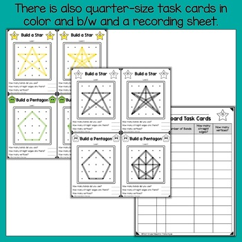 2D Shape Geoboard Task Cards