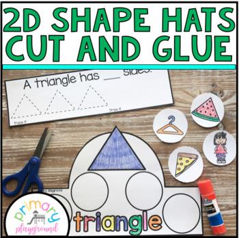 2D Shape Hats Cut and Glue