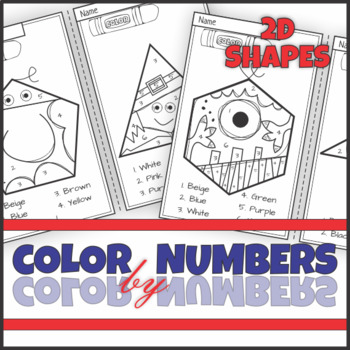 2D Shape Hero and Creature Color by Numbers