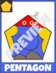 2D Shape Hero and Creature Posters Classroom Decor