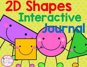2D Shapes Interactive Journal (Kindergarten & 1st Grade)