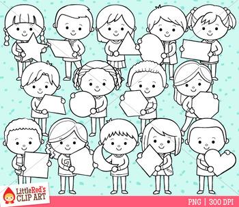 2D Shape Kids Clip Art