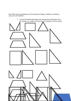 2D Shape Match Worksheet and Shapes