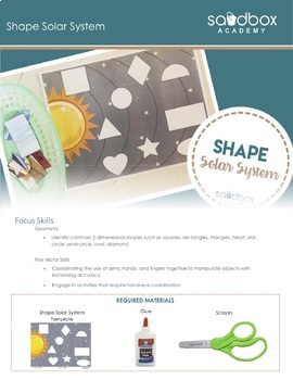 2D Shape Matching Activity - Space Theme