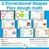 2D Shape Play Dough Mats